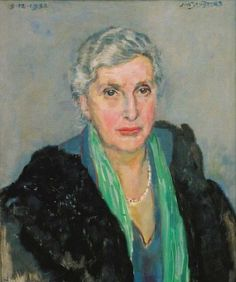 Jan Sluijters (Netherlands 1881-1957), Portrait of Mrs. Valkenburg, oil on canvas, 1952. Private collection.
