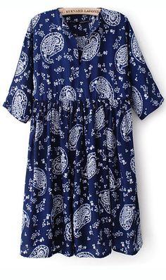 Korean floral print slim-fit dress