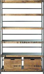 Bookcase Vintage 0200012 125x40x208cm