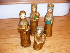 Beautiful Vintage Nativity Figures Japan by GinkgoWay on Etsy, $17.75
