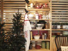 Estantes recheadas de Natal, por Lemonaid.  #Natal #decoração #bloggers #ikeaportugal