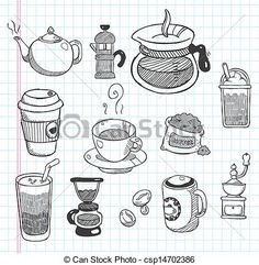 Coffee Icon Icons from GraphicRiver - Coffee Icon - Ideas of Coffee Icon - Doodle coffee icons Coffee Icon Ideas of Coffee Icon Doodle coffee icons Doodle Art Letters, Doodle Art Journals, Doodle Sketch, Doodle Drawings, Coffee Icon, Coffee Logo, Coffee Coffee, Coffee Doodle, Doodle On Photo