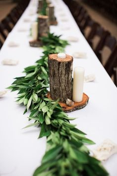 Let nature inspire your centerpieces with these rustic ideas.