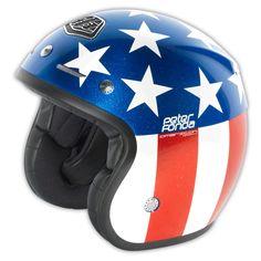 troyleedesigns - Open Face Helmet Fonda Red/Blue