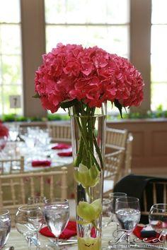 Spring Summer Green Pink Centerpiece Centerpieces Indoor Reception Wedding Flowers Photos & Pictures - WeddingWire.com