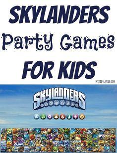 Skylanders Party Games For Kids