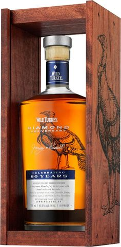 Wild Turkey Diamond Anniversary Kentucky Straight Bourbon #Whiskey. Aged for 13 to 16 years, this #bourbon earned a score of 97 points from Wine Enthusiast.   @Caskers