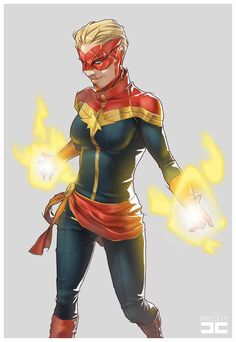 PROJECT 25: Superheroes - Captain Marvel a.k.a. Carol Danvers PROJECT 25