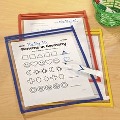 Dry Erase Sleeves - Oriental Trading Great for small groups- teach highlighting info, practice pages Organization And Management, Classroom Organization, Classroom Ideas, Classroom Management, Organizing, Elementary Music, Elementary Schools, School Plan, School Ideas