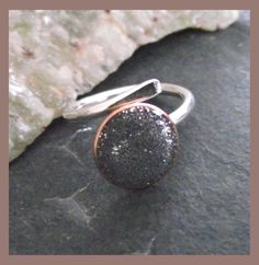 Sparkle Ring -  Sterling silver & bronze with resin adjustable ring  £14.00