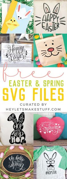 I'm sharing my favorite FREE SVGs for Easter and spring! All the colors, designs, decor, and adorable characters you'll need for a fun and festive season. diy cricut Free SVGs for Easter and Spring Round Up Spring Projects, Easter Projects, Spring Crafts, Easter Crafts, Holiday Crafts, Holiday Fun, Craft Projects, Festive, Easter Ideas