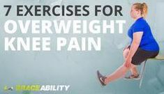 Are you overweight or obese and struggling with knee pain? Check out these 7 eas… Are you overweight or obese and struggling with knee pain? Check out these 7 easy knee pain treatment exercises and stretches to reduce your knee pain today! Knee Arthritis Exercises, Knee Strengthening Exercises, Arthritis Remedies, Knee Stretches, Exercises For Knees, Exercise For Arthritis, Exercise For Back Pain, Exercises For Arthritic Knees, Fibromyalgia Exercise