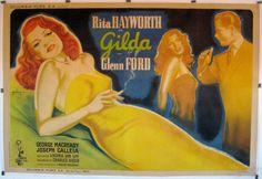 Gilda Rita Hayworth Charles Vidor 1946 Grinsson Movie Poster 1704 | eBay