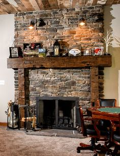 389 best rustic fireplaces images fire places home decor log rh pinterest com Log Cabin Fireplace Mantels Old Fireplace Mantels