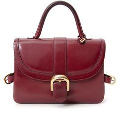 Delvaux Top Handle Bordeaux Bag