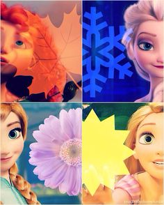 Elsa, Anna, Rapunzel, & Merida