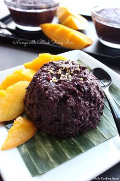Mango with Black Sticky Rice | Daily Cooking Quest
