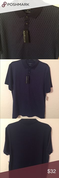 🏷Final Price Cut🏷 NWT Navy Blue Van Heusen Polo JUST LISTED: NWT Van Heusen Polo   Color: Navy Blue   CONDITION: New With Tags   ❌Trades❌  ⚡️I ship lightening fast⚡️  🎉Discounts with bundles 🎉 Van Heusen Shirts Polos