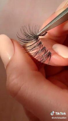 Asian Eye Makeup, Makeup Eye Looks, Pretty Makeup, Simple Makeup, Skin Makeup, Makeup Art, Fake Lashes, Eyelashes, Makeup Tutorial Eyeliner
