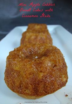 Mini Apple Cobbler Bundt Cakes with Cinnamon Glaze -- From Gate to Plate #BundtBakers