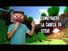 ✔ Cómo Hacer la Cabeza de Steve de Minecraft | Disfraz de Steve - YouTube