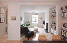 See How Archer + Braun Gave This London Row House a Modern Makeover - Originally built for dock workers, the historic property desperately needed a lift House Extension Design, House Design, Brick Extension, Side Extension, Extension Ideas, Victorian Terrace House, Upstairs Bedroom, London House, Front Rooms