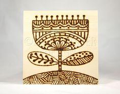 Original Wood Burning Art / Pyrography Art / by LauraBolterDesign, $25.00