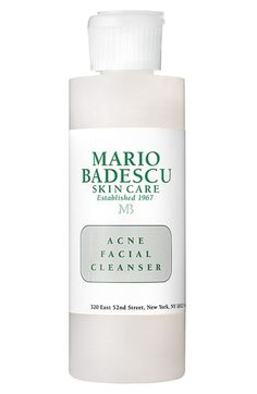 Free shipping and returns on Mario Badescu Acne Facial Cleanser at Nordstrom.com. Deep-cleansing and -exfoliating, this non-drying, daily foaming cleanser prevents and heals existing breakouts with a botanical and salicylic acid formulation. Removes makeup, dirt and oil with soothing, antiinflammatory benefits.