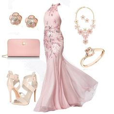 Light pink fitted dress outfit