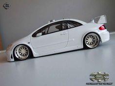 Peugeot 307 WRC plain body white wheels bbs tuning Autoart. Peugeot 307 WRC plain body white wheels bbs miniature 1/18