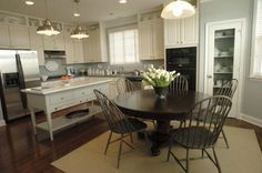 Martha Stewart kitchen.  LOVE.  Great colors, like the island peice, great cabinets