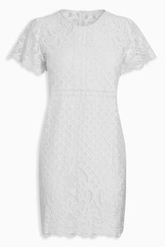 Lovely lace is all you need for a special occasion this summer and this white dress is guaranteed to wow.