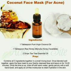 Coconut face mask for acne