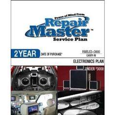 Repair Master 2-Yr Date of Purchase Electronics Plan - Under .... $58.62. Under $3000This Plan provides carry-in service and is designed for Home Car and Marine Audio/Video Photography E-Reader and Computer peripheral products used in a residential single-family household