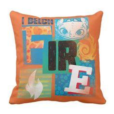 I Belch Fire - Blocks Throw Pillow