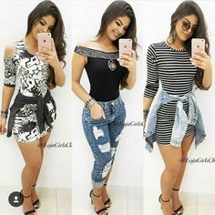Beautiful Outfits, Cool Outfits, Summer Outfits, Casual Outfits, Daily Fashion, Teen Fashion, Fashion Outfits, Womens Fashion, Mode Rockabilly