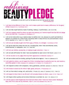 This is a pledge of real beauty. I want my girls to see this.