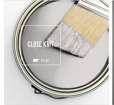 Behr Close Knit T17-01 This is a very light gray. Will be using to repaint kitchen cabinets, front door, maybe kitchen doors too. (living room decor tips paint colors)