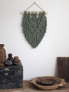 Your place to buy and sell all things handmade Macrame Plant Hanger Patterns, Macrame Wall Hanging Patterns, Macrame Plant Hangers, Macrame Patterns, Quilt Patterns, Macrame Bag, Canvas Patterns, Wall Hanging Designs, Macrame Design