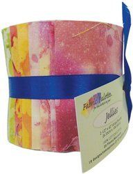 Fabric Palette 2-1/2-Inch by 42-Inch Cuts Jellies 100-Percent Cotton, 20-Pack, Long Road Batik