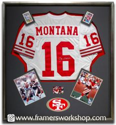 Framed Jersey for sports room. Canada Jersey and pics from each National Team age he played. Another of first jersey (SD) and then pics from each indoor team played for