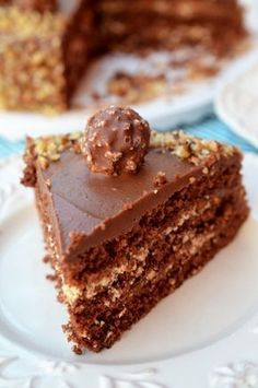 Tort Ferrero Rocher - Retete culinare by Teo's Kitchen Jacque Pepin, Something Sweet, Nutella, Biscuits, Food And Drink, Pie, Cooking Recipes, Ice Cream, Yummy Food