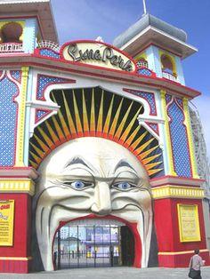 Doorway. Luna Park, Melbourne, Australia.
