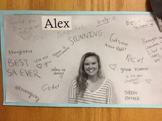 I had the whole hall write things about someone on a dry erase board and then the person stood in front of the board and then made it into a door dec! Goes along with filling each others buckets