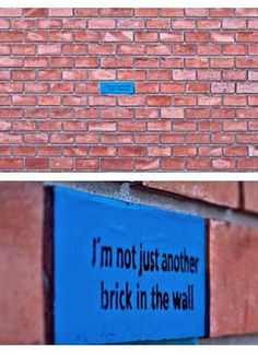 I'm not just another brick in the wall More is part of Street art graffiti - Graffiti Kunst, Street Art Graffiti, Street Art Quotes, Graffiti Quotes, Street Art Utopia, Graffiti Artists, Graffiti Lettering, Street Artists, Brick In The Wall