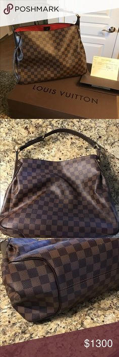 6c06935ee561b Louis Vuitton Reggia Damier handbag Almost new Louis Vuitton shoulder bag.  Only used on special occasions. Pictures show condition. Original receipt  and box ...