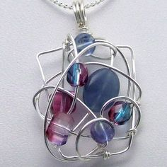 TUTORIAL: Mosaic Bead Pendant Wire-Wrapped Pendant by gaylebird