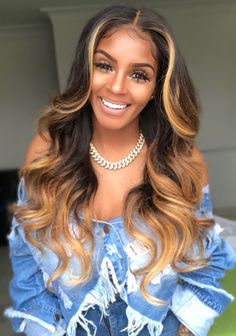 360 Lace Wigs Pre Plucke body wave With Babyhair Wig Styles, Curly Hair Styles, Natural Hair Styles, Honey Blonde Hair, Birthday Hair, Ombré Hair, Hair Cut, Wavy Hair, My Hairstyle