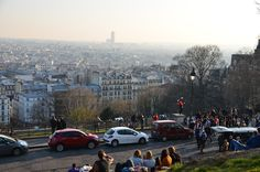 During my last trip in Paris I spent much time in Montmartre and artists quarter. I think that is the most beautiful area in Paris, it's quiet, romantic quarter and from here the view is fantastic.