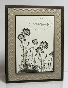 Serene Silhouettes - made a version of this card - not too hard!